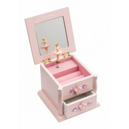 Boîte à bijoux musicale rose